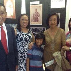 Descendants of Navarro: Emilio N. Gamalinda, Mary Talusan, Gavin Lacanlale, Aida Kasman, Araceli Talusan